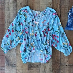 ⭐️Just Listed - Gorgeous Blue WRAP TOP - NWT